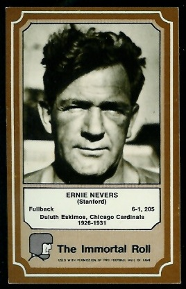 1975 Fleer Immortal Roll #19 - Ernie Nevers - exmt
