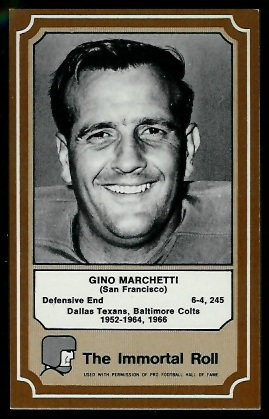 1975 Fleer Immortal Roll #34 - Gino Marchetti - nm