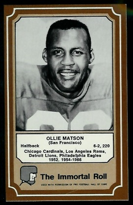 1975 Fleer Immortal Roll #35 - Ollie Matson - nm