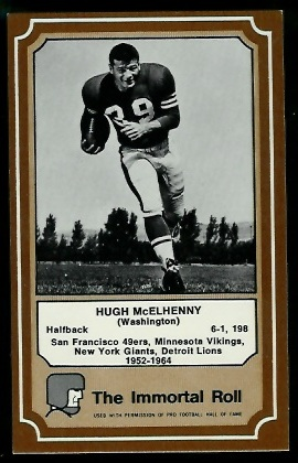 1975 Fleer Immortal Roll #36 - Hugh McElhenny - exmt