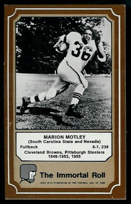 1975 Fleer Immortal Roll #37 - Marion Motley - exmt