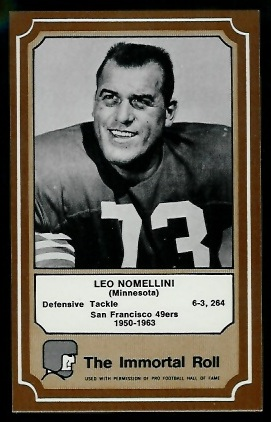 1975 Fleer Immortal Roll #38 - Leo Nomellini - nm+