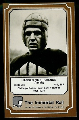 1975 Fleer Immortal Roll #4 - Red Grange - nm+ oc