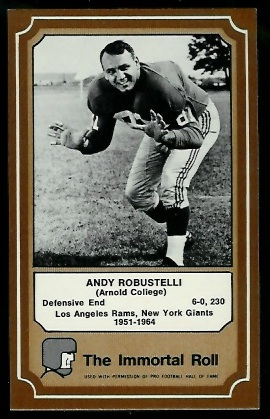 1975 Fleer Immortal Roll #40 - Andy Robustelli - nm-mt