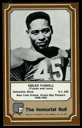 1975 Fleer Immortal Roll #44 - Emlen Tunnell - nm