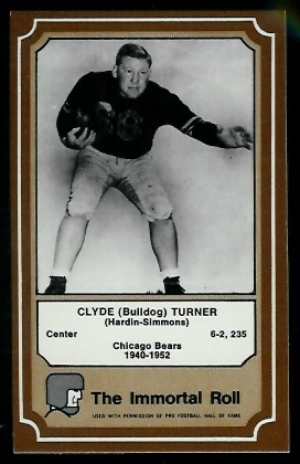 1975 Fleer Immortal Roll #45 - Bulldog Turner - nm-mt