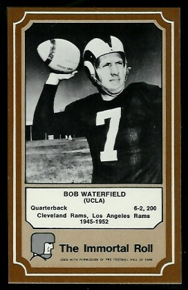 1975 Fleer Immortal Roll #48 - Bob Waterfield - nm-mt
