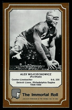 1975 Fleer Immortal Roll #57 - Alex Wojciechowicz - nm+