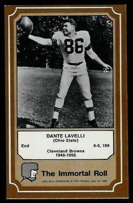 1975 Fleer Immortal Roll #58 - Dante Lavelli - nm oc