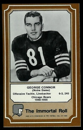 1975 Fleer Immortal Roll #59 - George Connor - nm-mt oc