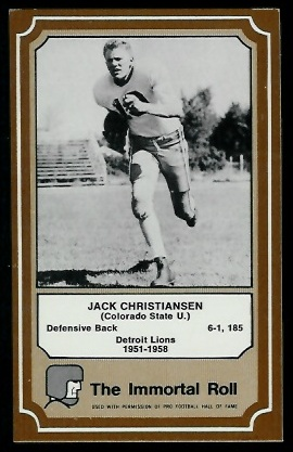 1975 Fleer Immortal Roll #61 - Jack Christiansen - exmt