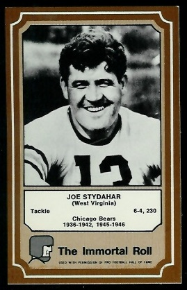 1975 Fleer Immortal Roll #63 - Joe Stydahar - nm