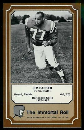 1975 Fleer Immortal Roll #65 - Jim Parker - nm+