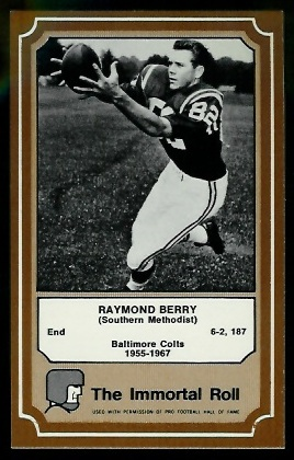 1975 Fleer Immortal Roll #66 - Raymond Berry - nm+