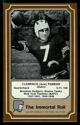 1975 Fleer Immortal Roll #68 - Ace Parker - nm-mt