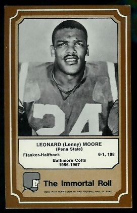 1975 Fleer Immortal Roll #83 - Lenny Moore - exmt