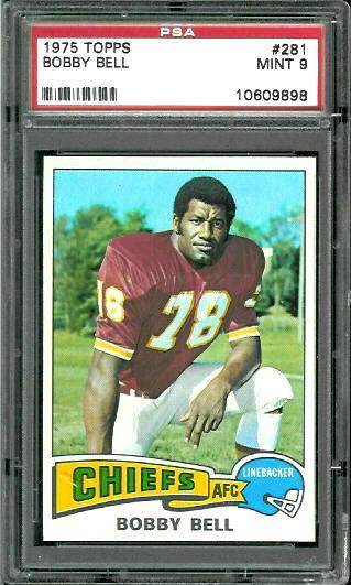 1975 Topps #281 - Bobby Bell - PSA 9