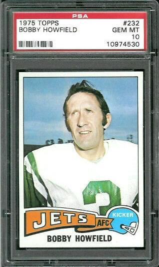 1975 Topps #232 - Bobby Howfield - PSA 10