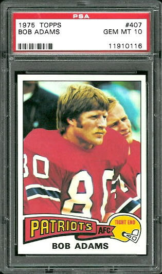 1975 Topps #407 - Bob Adams - PSA 10