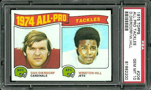 1975 Topps #206 - 1974 All-Pro Tackles - PSA 10