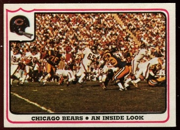 1976 Fleer Team Action #31 - Chicago Bears - An Inside Look - nm