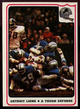 1976 Fleer Team Action #36 - Detroit Lions - A Tough Defense - nm