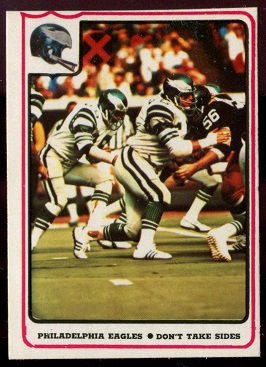 1976 Fleer Team Action #48 - Philadelphia Eagles - Don't Take Sides - nm+ oc