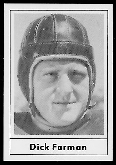 1977 Touchdown Club #14 - Dick Farman - exmt