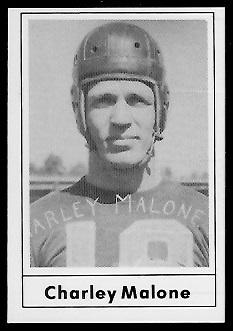 1977 Touchdown Club #27 - Charley Malone - ex