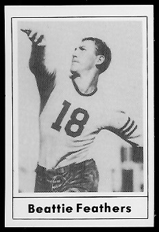 1977 Touchdown Club #7 - Beattie Feathers - nm