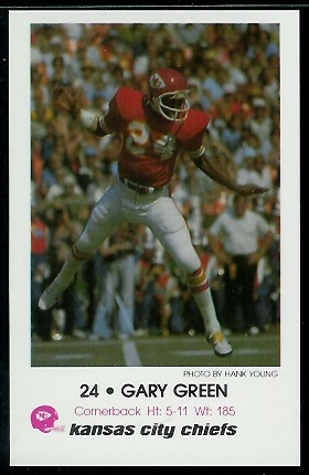 1979 Chiefs Police #3 - Gary Green - nm-mt
