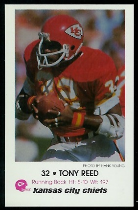 1979 Chiefs Police #7 - Tony Reed - nm-mt