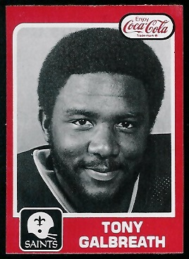 1979 Coke Saints #11 - Tony Galbreath - nm
