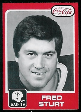 1979 Coke Saints #31 - Fred Sturt - nm-mt