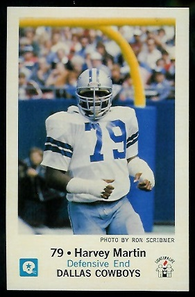 1979 Cowboys Police #10 - Harvey Martin - mint