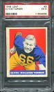 1948 Leaf Bulldog Turner rookie football card
