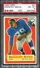 1956 Topps Roosevelt Brown rookie football card