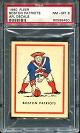 1960 Fleer AFL Team Decals Boston Patriots