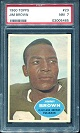 1960 Topps Jim Brown football card