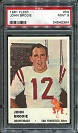 1961 Fleer John Brodie rookie football card