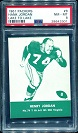 1961 Lake to Lake Packers Hank Jordan football card