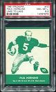 1961 Lake to Lake Packers Paul Hornung football card