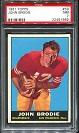 1961 Topps John Brodie rookie football card