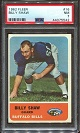 1962 Fleer Billy Shaw rookie football card