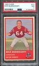 1963 Fleer Nick Buoniconti rookie football card