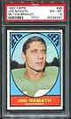 1967 Milton Bradley Joe Namath football card
