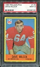 1967 Philadelphia Dave Wilcox rookie football card