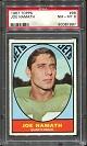 1967 Topps Joe Namath football card